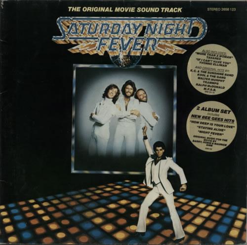 Bee Gees Saturday Night Fever - stickered p/s 2-LP vinyl record set (Double Album) German BGE2LSA601220