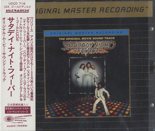 Bee Gees Saturday Night Fever - The Original Movie Sound Track CD album (CDLP) Japanese BGECDSA531079