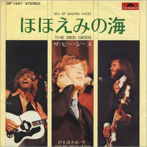 """Bee Gees Sea Of Smiling Faces 7"""" vinyl single (7 inch record) Japanese BGE07SE167097"""