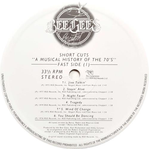 Bee Gees Short Cuts - custom stickered sleeve vinyl LP album (LP record) UK BGELPSH05724