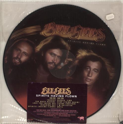 BEE GEES//LIMITED EDITION//CD PLATINUM DISC//RECORD//SPIRITS HAVING FLOWN