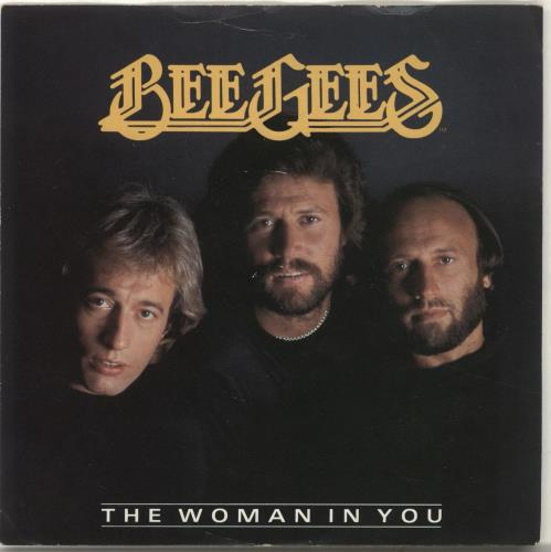"""Bee Gees The Woman In You 7"""" vinyl single (7 inch record) UK BGE07TH636887"""