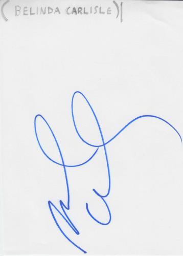 Belinda Carlisle Autograph memorabilia UK CARMMAU713532