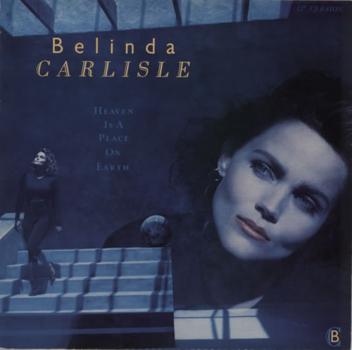 "Belinda Carlisle Heaven Is A Place On Earth 12"" vinyl single (12 inch record / Maxi-single) UK CAR12HE03531"