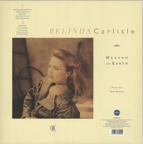 Belinda Carlisle Heaven On Earth - 180gm Blue Vinyl - Sealed vinyl LP album (LP record) UK CARLPHE730515