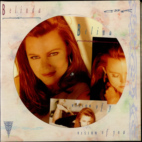 """Belinda Carlisle Vision Of You + Poster 12"""" vinyl picture disc 12inch picture disc record UK CAR2PVI519827"""