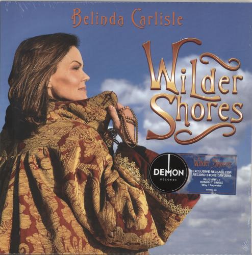 "Belinda Carlisle Wilder Shores - RSD18 - Blue Vinyl + 7"" - Sealed vinyl LP album (LP record) UK CARLPWI695019"