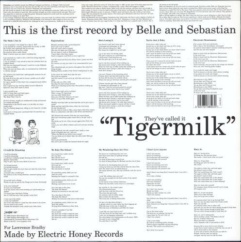 Belle & Sebastian Tigermilk vinyl LP album (LP record) UK B&SLPTI768331
