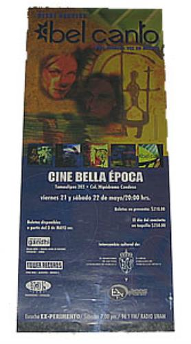 Bel Canto Bel Canto In Mexico poster Mexican BF7POBE357203