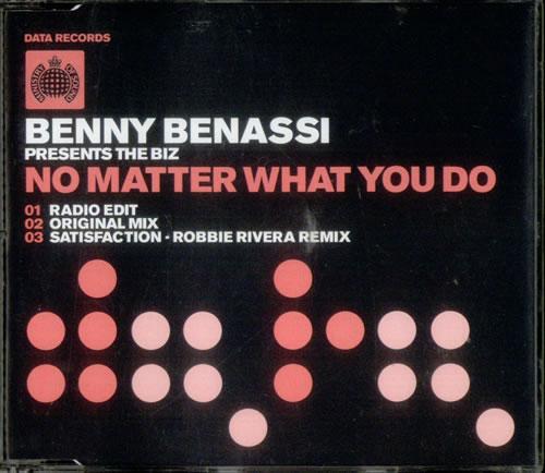 "Benny Benassi No Matter What You Do CD single (CD5 / 5"") UK YBEC5NO537944"