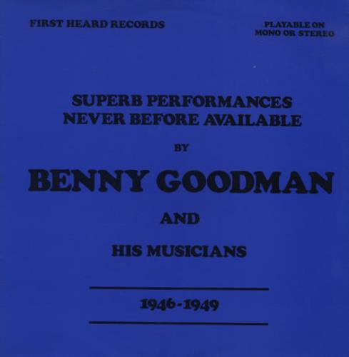 Benny Goodman Superb Performances - Never Before Available vinyl LP album (LP record) Italian BG1LPSU411657