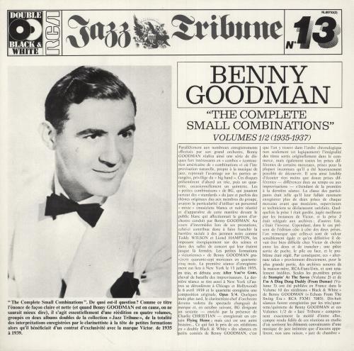Benny Goodman The Complete Small Combinations - Volumes 1 & 2 2-LP vinyl record set (Double Album) German BG12LTH747165