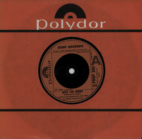 "Benny Mardones Into The Night 7"" vinyl single (7 inch record) UK C9Q07IN575688"