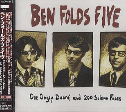 """Ben Folds Five One Angry Dwarf And 200 Solemn Faces CD single (CD5 / 5"""") Japanese BFEC5ON276074"""
