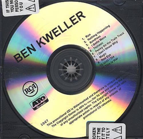 Ben Kweller Ben Kweller CD album (CDLP) US BKWCDBE378235