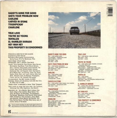 Ben Vaughn Ben Vaughan Blows Your Mind vinyl LP album (LP record) US B36LPBE690999