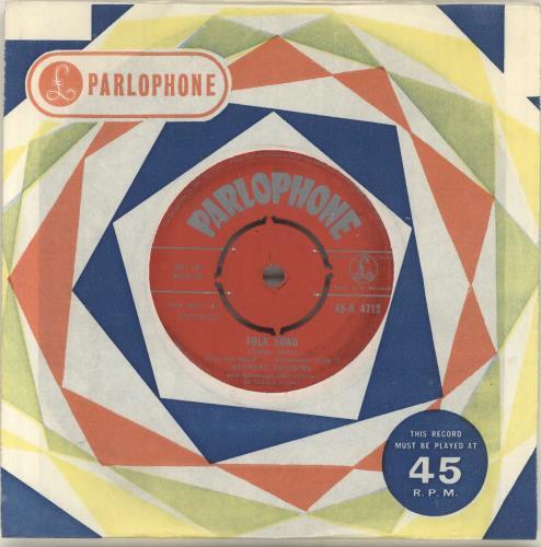 "Bernard Cribbins Folk Song 7"" vinyl single (7 inch record) UK CR-07FO420252"