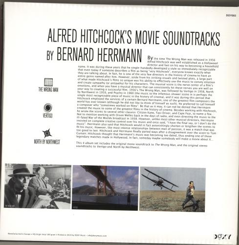 Bernard Herrmann Alfred Hitchcock's Movie Soundtracks - The Wrong Man • Vertigo • North By Northwest 4-LP vinyl album set (4 records) UK 1BH4LAL692681