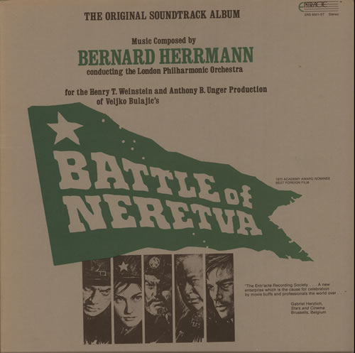 Bernard Herrmann Battle Of Neretva vinyl LP album (LP record) US 1BHLPBA584427
