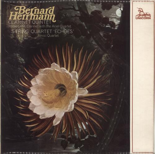 Bernard Herrmann Clarinet Quintet & String Quartet 'Echoes' vinyl LP album (LP record) UK 1BHLPCL483269