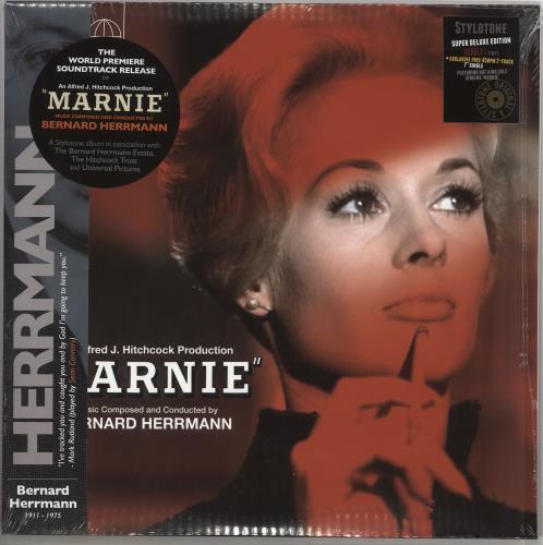 "Bernard Herrmann Marnie - Scarlet vinyl + 7"" & CD - Withdrawn Sleeve - Sealed 2-LP vinyl record set (Double Album) UK 1BH2LMA719724"