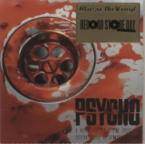 "Bernard Herrmann Psycho (A Narrative For String Orchestra) - Red Vinyl + Numbered Sleeve 7"" vinyl single (7 inch record) UK 1BH07PS680792"