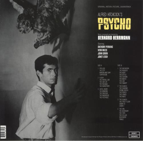 Bernard Herrmann Psycho - Original Motion Picture Soundtrack vinyl LP album (LP record) UK 1BHLPPS742190