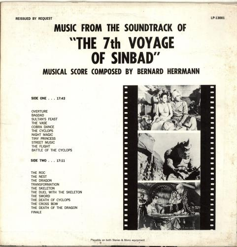 Bernard Herrmann The 7th Voyage Of Sinbad vinyl LP album (LP record) US 1BHLPTH693414