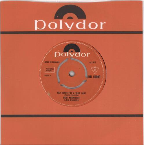 "Bert Kaempfert Red Roses For A Blue Lady - 3pr 7"" vinyl single (7 inch record) UK BKP07RE691880"