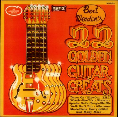 Bert Weedon 22 Golden Guitar Greats vinyl LP album (LP record) UK B/WLPGO454282