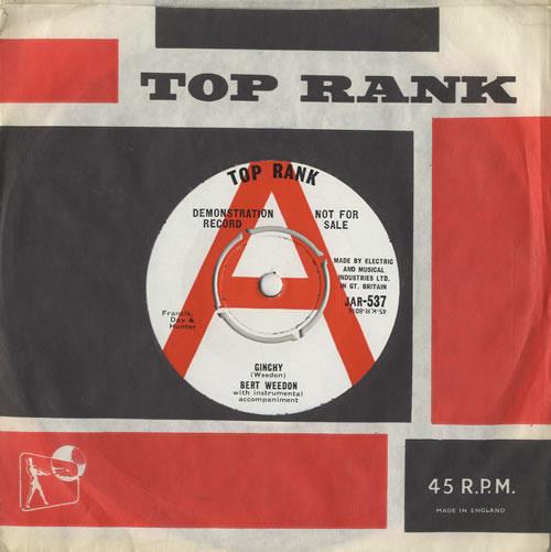 "Bert Weedon Ginchy - A Label 7"" vinyl single (7 inch record) UK B/W07GI474153"