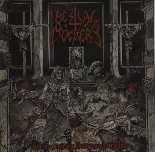 Bestial Mockery Christcrushing Hammerchainsaw - Red & Black Splatter Vinyl vinyl LP album (LP record) US IXSLPCH659306