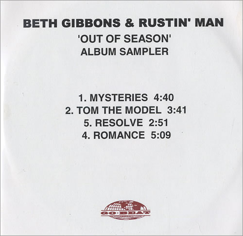 Beth Gibbons Out Of Season - Album Sampler CD-R acetate UK BTGCROU472350