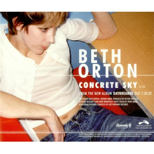 Beth Orton Concrete Sky - Picture CD Edition US Promo CD single (CD5 / 5