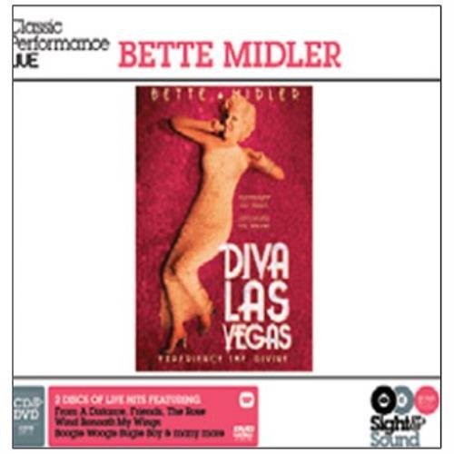 Bette Midler Diva Las Vegas 2-disc CD/DVD set UK BMI2DDI452209