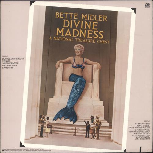 Bette Midler Divine Madness vinyl LP album (LP record) US BMILPDI422888