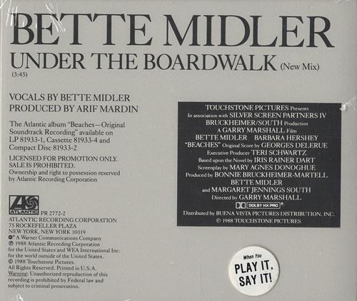 """Bette Midler Under The Boardwalk CD single (CD5 / 5"""") US BMIC5UN153909"""