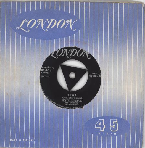 "Betty Johnson 1492 / Little White Lies 7"" vinyl single (7 inch record) UK ZG307LI716541"