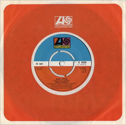 "Betty Wright Baby Sitter 7"" vinyl single (7 inch record) UK BWR07BA480889"