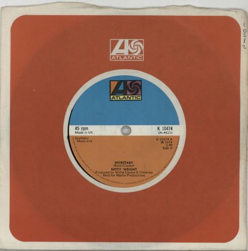 "Betty Wright Secretary 7"" vinyl single (7 inch record) UK BWR07SE609873"