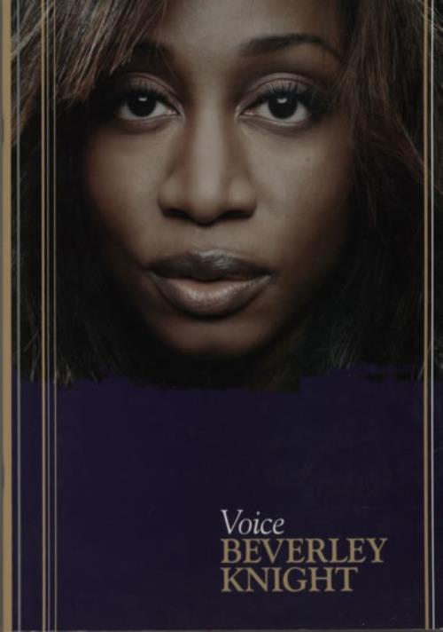 Beverley Knight Voice tour programme UK BKITRVO595734