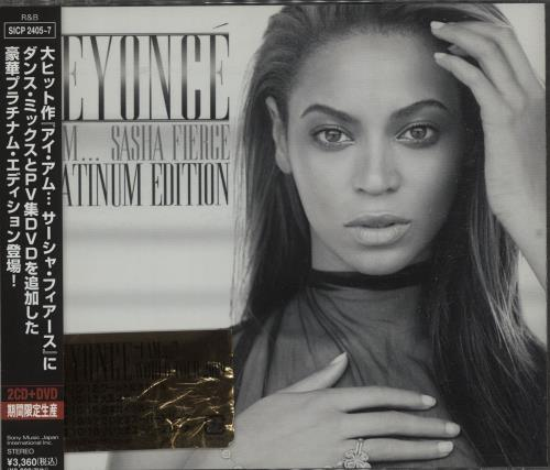 Beyoncé Knowles I Am... Sasha Fierce - Platinum Edition 3-disc CD/DVD Set Japanese BYK3DIA674370