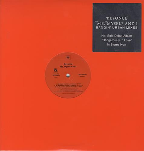 """Beyoncé Knowles Me, Myself And I 12"""" vinyl single (12 inch record / Maxi-single) US BYK12ME283088"""