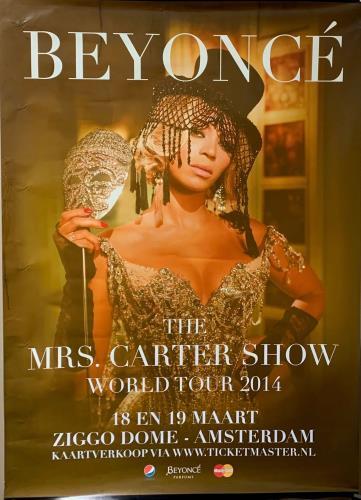 Beyoncé Knowles Mrs Carter World Tour Poster poster Dutch BYKPOMR737472