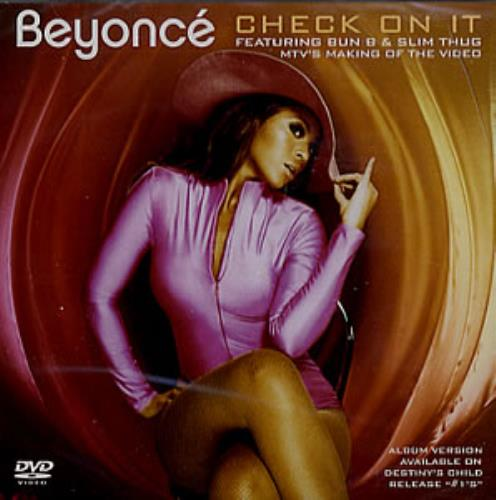 Beyoncé Knowles MTV's Making Of The Video - Check On It DVD Single US BYKDSMT359029