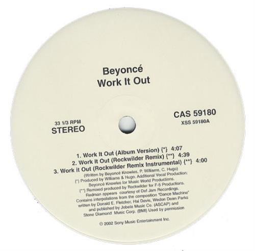 "Beyoncé Knowles Work It Out 12"" vinyl single (12 inch record / Maxi-single) US BYK12WO230078"