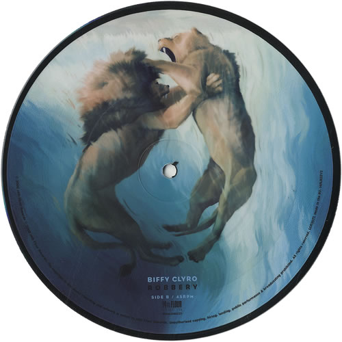 """Biffy Clyro Mountains 7"""" vinyl picture disc 7 inch picture disc single UK B.Y7PMO443625"""