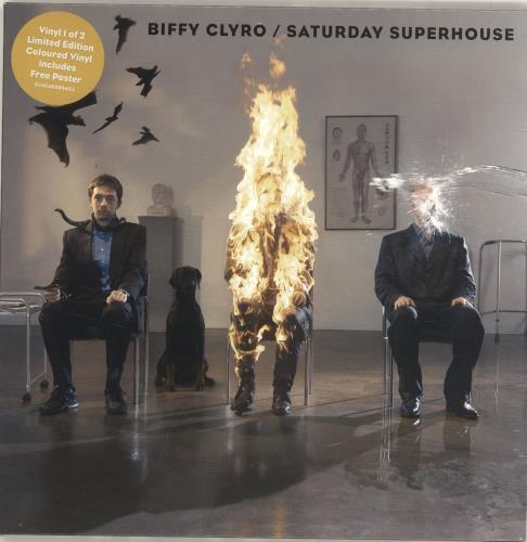 "Biffy Clyro Saturday Superhouse - Orange Vinyl 7"" vinyl single (7 inch record) UK B.Y07SA391976"