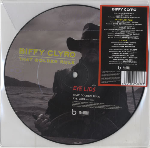 """Biffy Clyro That Golden Rule 7"""" vinyl picture disc 7 inch picture disc single UK B.Y7PTH480176"""
