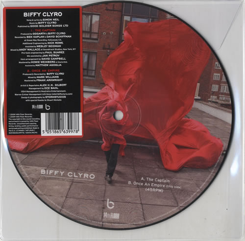 "Biffy Clyro The Captain 7"" vinyl picture disc 7 inch picture disc single UK B.Y7PTH487840"
